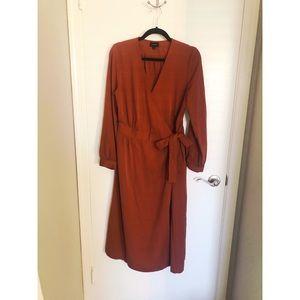 Who What Wear - Midi Wrap Dress